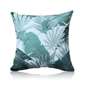 Simple Green Environmentally Friendly Plant Pattern Double-sided Printing Pillowcases