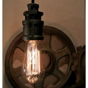 Real Simple 1 Light Industrial Style Hanging Light
