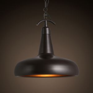 13 Inches Wide Black Finish Industrial Style Pendant Lighting