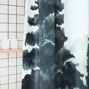 HomeLava Original High-quality Environmentally Friendly Waterproof Anti-mildew Polyester Fabric Deep Forest Shower Curtain