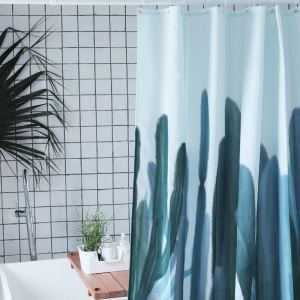 HomeLava Original High-quality Environmentally Friendly Waterproof Anti-mildew Polyester Fabric Cactus Shower Curtain
