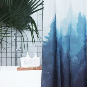 HomeLava Original High-quality Environmentally Friendly Waterproof Anti-mildew Polyester Fabric Forest Shower Curtain