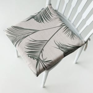 American Rural Like Cotton And Linen Leaf Pattern Memory Cotton Core Cushion