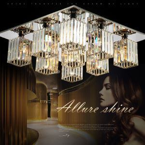 Pendant Lights / Flush Mount Crystal / Bulb Included Modern/Contemporary Living Room  / Study Room/Office Crystal