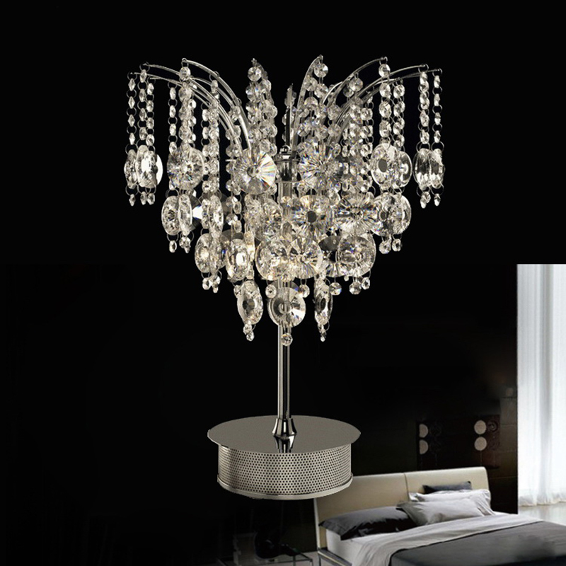 modern gorgeous luxurious crystal table lamp in butterfly. Black Bedroom Furniture Sets. Home Design Ideas