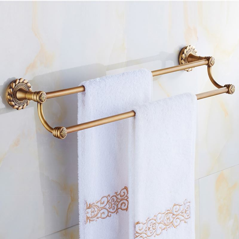 Bathroom Towel Bars European Vintage Bathroom Accessories Double Layer Towel Rack Antique