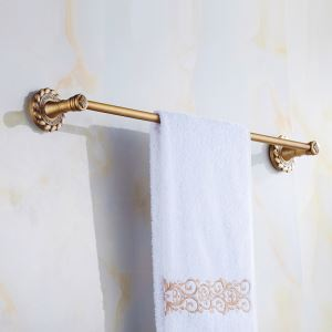 European Vintage Bathroom Accessories Towel Rack Antique Brass Towel Bar