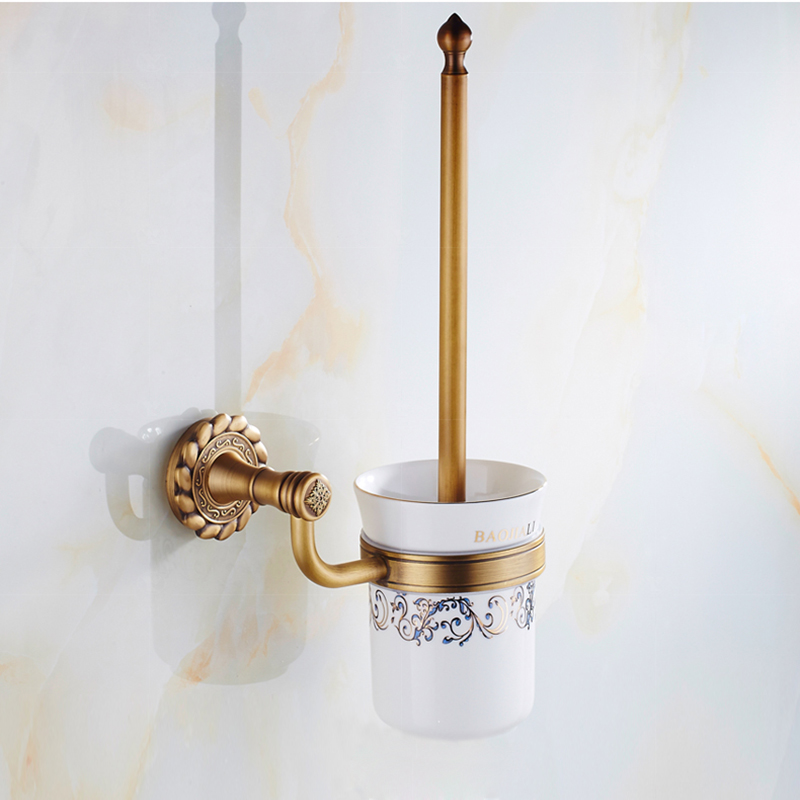 Bathroom toilet brush holder european vintage bathroom for Vintage bathroom accessories