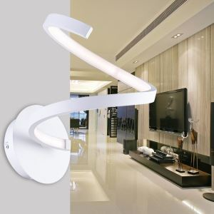 Modern Simple Iron + Aluminum + Acrylic White LED Wall Light