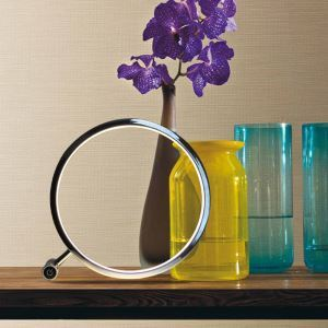 Modern Simple Aluminum Alloy + Acrylic Material Loop Model LED Table Lamp Energy Saving