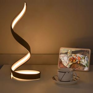 Modern Simple Aluminum Alloy + Acrylic Material Time Travel Model LED Table Lamp White Light/Yellow Light Energy Saving