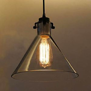 60W Contemporary Metal Pendant Light With Glass Shade