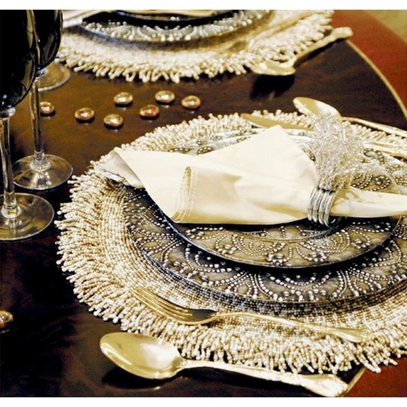 ... Home Textiles   Kitchen U0026 Table Linens   Placemats   Tassel Handmade  Beaded Black Sequined Glass
