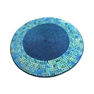 Handmade Beaded Blue Shell Glass Bead Beading Placemat