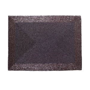 Handmade Beaded Purple Glass Bead High End Luxury Rectangle Placemat