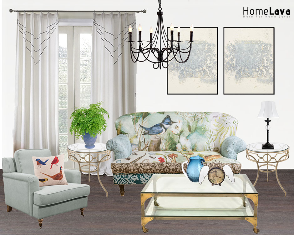 Spring fresh living room
