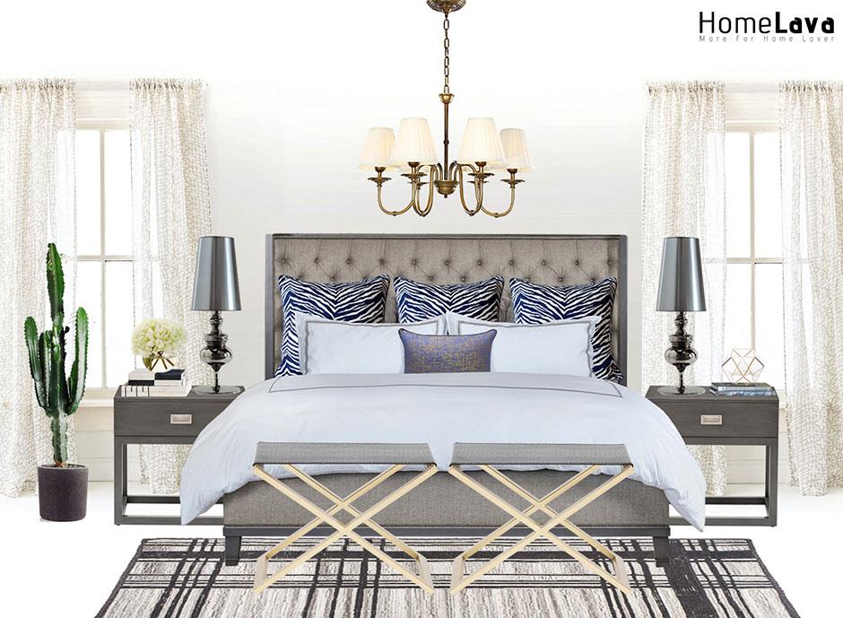 Trendy master bedroom photo