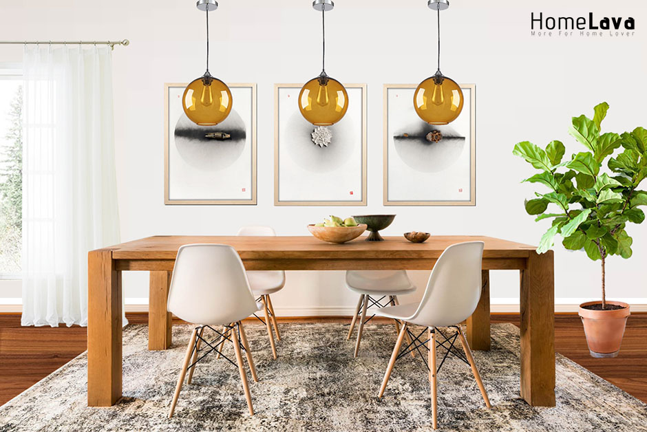 Inspiration for a contemporary dining room