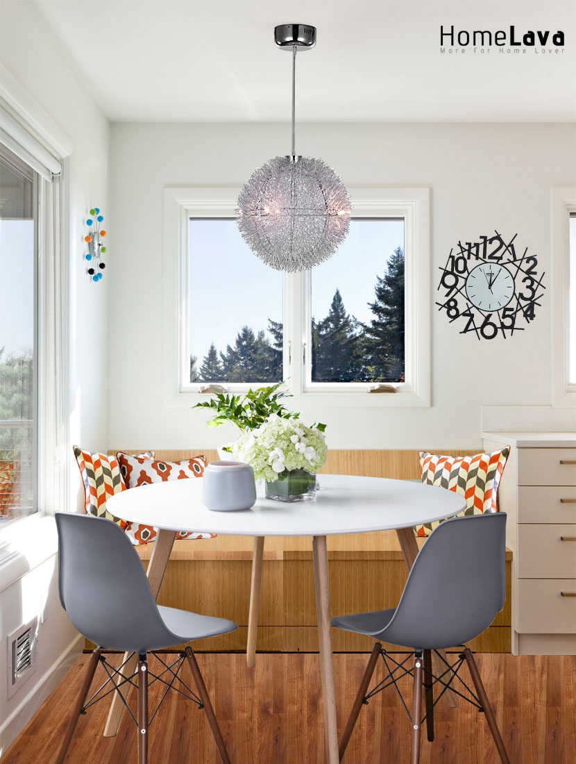 A mid-sized trendy dining room design