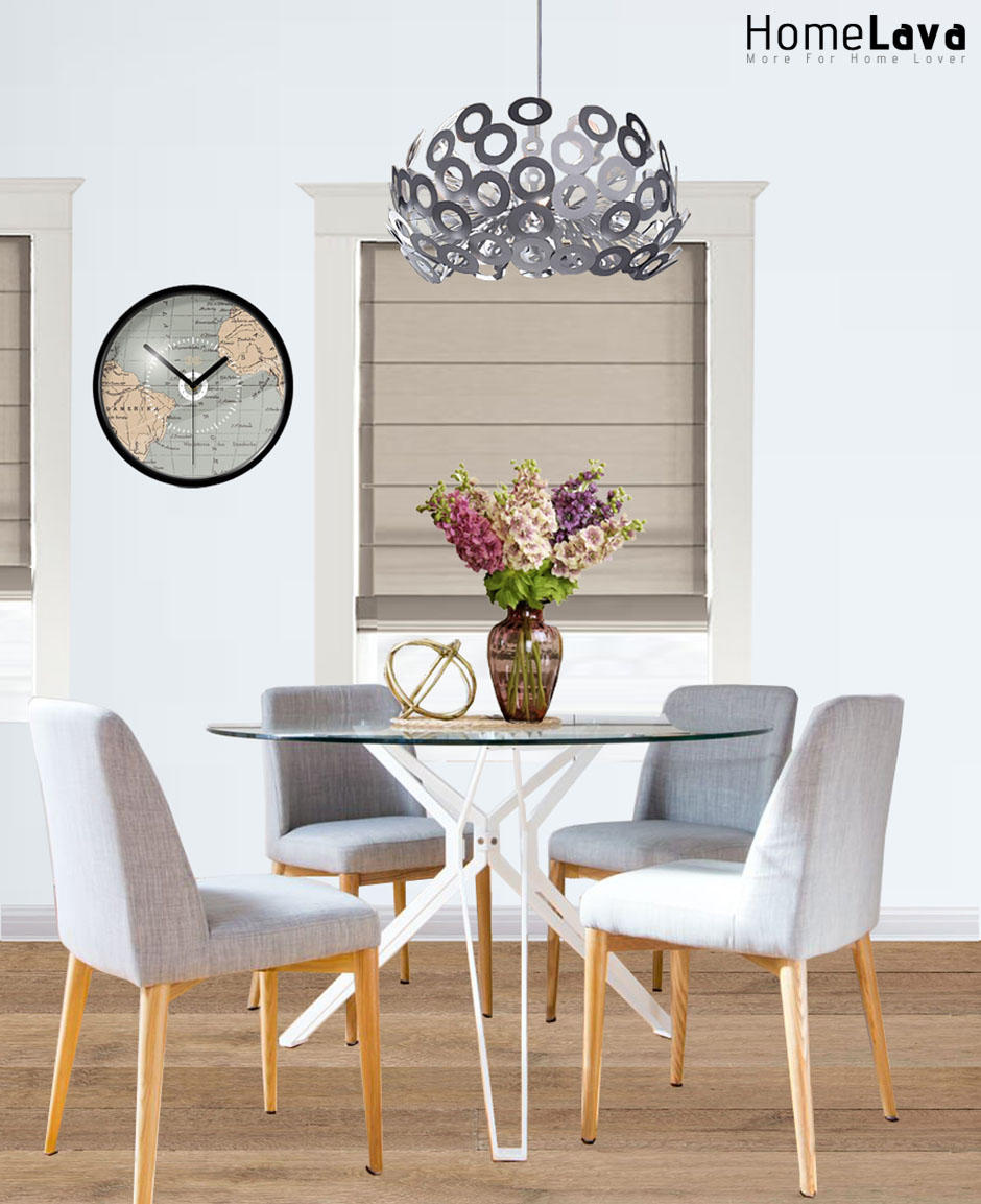 A contemporary dining room remodel