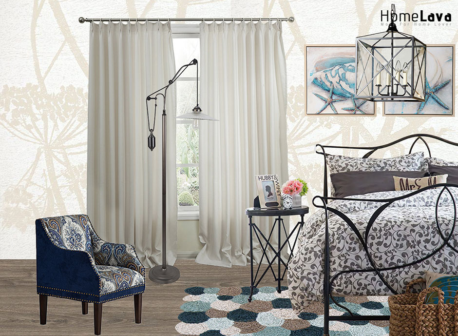 Industrial Eclectic Bedroom