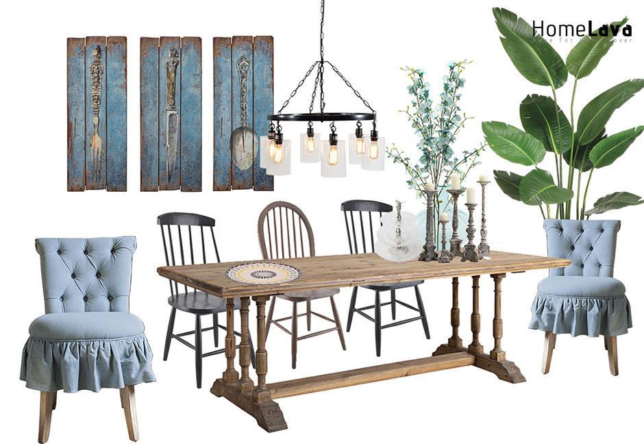 Blue diningroom