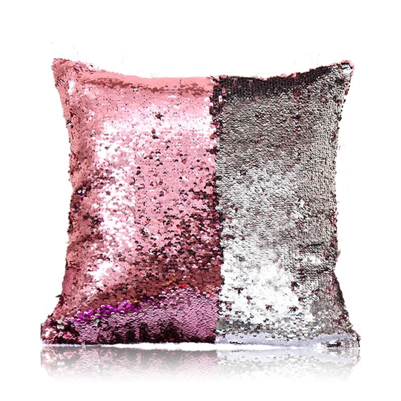In Stock Mermaid Sequins Pillow Cover Magic DIY Inverted Flip