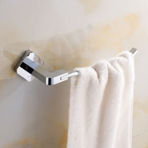 Modern Simple Style Bathroom Products Bathroom Accessories Copper Art Chrome Color Towel Ring