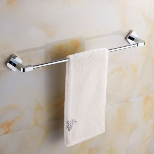 Modern Simple Style Bathroom Products Bathroom Accessories Copper Art Chrome Color Single Rod Towel Bar