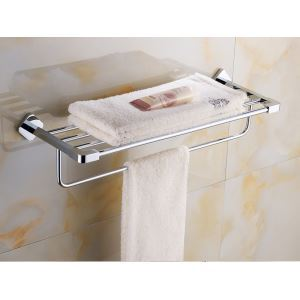 Modern Simple Style Bathroom Products Bathroom Accessories Copper Art Chrome Color Towel Rack