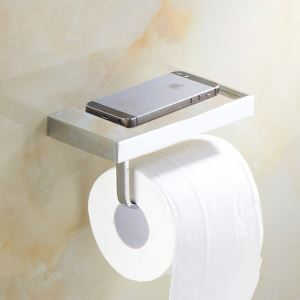 Modern Simple Style Bathroom Products Bathroom Accessories Copper Art Mobile Phone Toilet Roll Holders