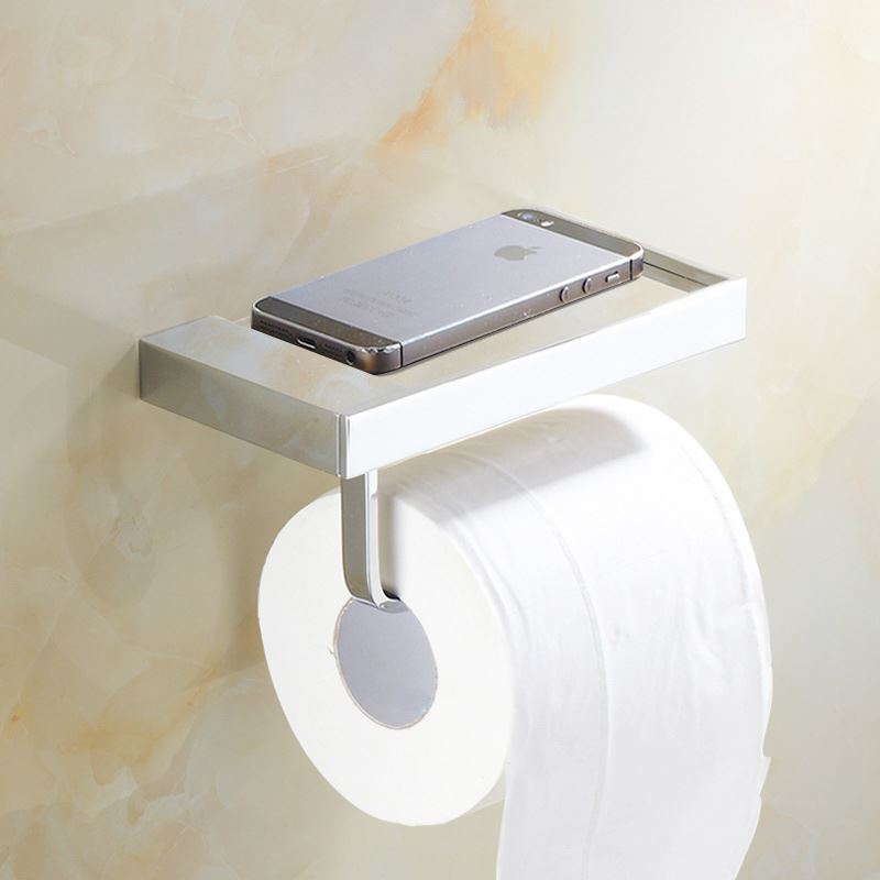Bathroom toilet roll holders modern simple style for Bathroom accessories toilet roll holder