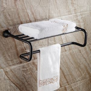 European Style Bathroom Products Bathroom Accessories Copper Art Black Retro Towel Rack