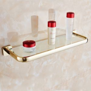 Modern Simple Style Bathroom Products Bathroom Accessories Copper Art Gold Bath Shelf