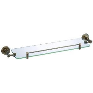 European Style Bathroom Products Bathroom Accessories Copper Art Retro Glass Single Layer Bath Shelf