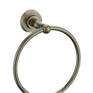 European Style Bathroom Products Bathroom Accessories Copper Art Retro Towel Ring