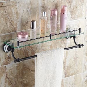 European Style Bathroom Products Bathroom Accessories Copper Art Retro Bath Shelf
