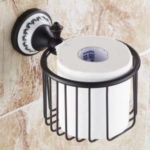 European Style Bathroom Products Bathroom Accessories Copper Art Retro Toilet Roll Holders