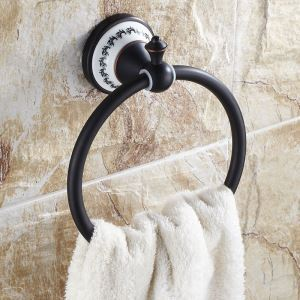 European Style Bathroom Products Bathroom Accessories Copper Art Retro Towel Ring