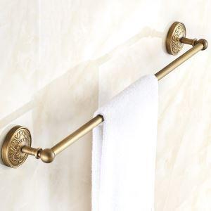 European Retro Style Bathroom Products Bathroom Accessories Copper Art Single Rod Towel Bar