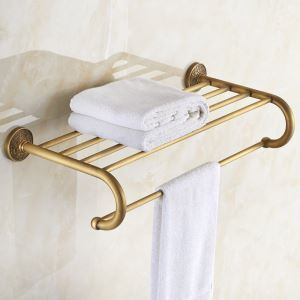 European Retro Style Bathroom Products Bathroom Accessories Copper Art Towel Rack