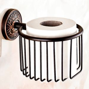 European Retro Style Bathroom Products Bathroom Accessories Copper Art Toilet Roll Holders