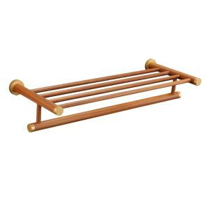 European Simple Style Bathroom Products Bathroom Accessories Wood Art Towel Rack