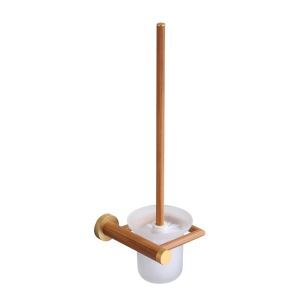 European Simple Style Bathroom Products Bathroom Accessories Wood Art Toilet Brush Holder