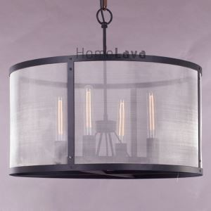 60W E27 Pendent Light with Transparent Shade