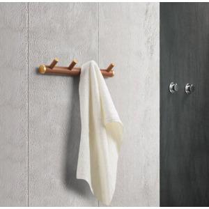 European Simple Style Bathroom Products Bathroom Accessories Wood Art 4 Hook Robe Hook