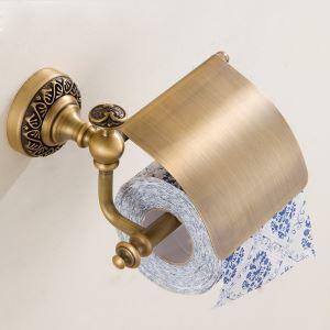 European Retro Style Bathroom Products Bathroom Accessories Copper Art Toilet Roll Holders