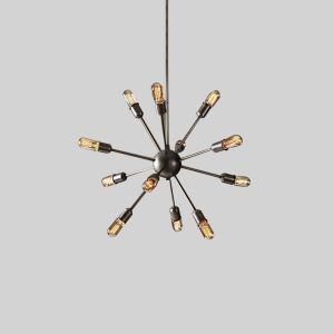 60W E27 Avant Garde Iron Chandelier with 12 Lights