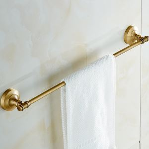 European Retro Style Bathroom Products Bathroom Accessories Copper Art Single Rod Towel Bar