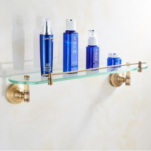 European Retro Style Bathroom Products Bathroom Accessories Copper Art Bath Shelf